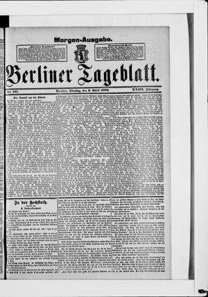 Berliner Tageblatt und Handels-Zeitung vom 09.04.1889