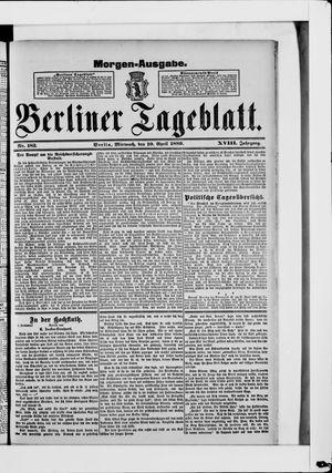 Berliner Tageblatt und Handels-Zeitung on Apr 10, 1889