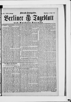 Berliner Tageblatt und Handels-Zeitung vom 11.04.1889