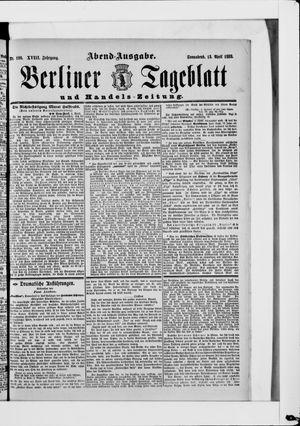 Berliner Tageblatt und Handels-Zeitung vom 12.04.1889