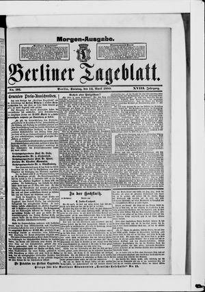 Berliner Tageblatt und Handels-Zeitung vom 14.04.1889