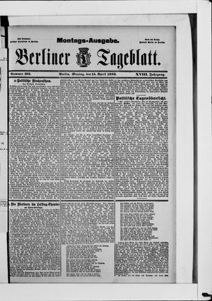 Berliner Tageblatt und Handels-Zeitung vom 15.04.1889