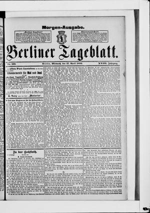Berliner Tageblatt und Handels-Zeitung vom 17.04.1889