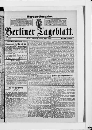 Berliner Tageblatt und Handels-Zeitung vom 24.04.1889