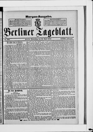 Berliner Tageblatt und Handels-Zeitung vom 25.04.1889