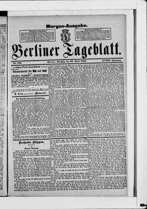 Berliner Tageblatt und Handels-Zeitung vom 30.04.1889