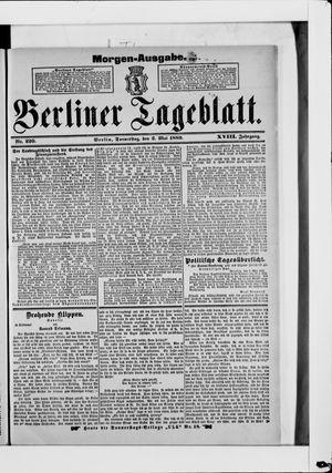 Berliner Tageblatt und Handels-Zeitung vom 02.05.1889