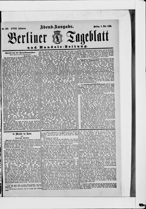 Berliner Tageblatt und Handels-Zeitung vom 03.05.1889