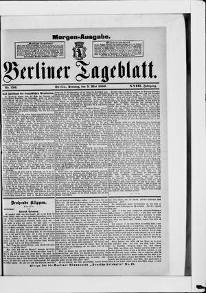 Berliner Tageblatt und Handels-Zeitung vom 05.05.1889
