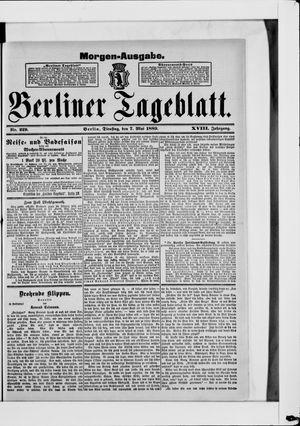 Berliner Tageblatt und Handels-Zeitung vom 07.05.1889