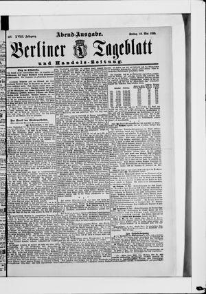 Berliner Tageblatt und Handels-Zeitung vom 10.05.1889