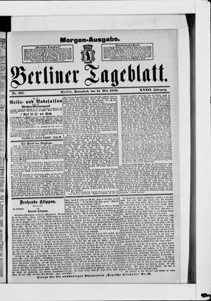 Berliner Tageblatt und Handels-Zeitung vom 11.05.1889
