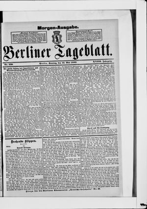 Berliner Tageblatt und Handels-Zeitung on May 12, 1889