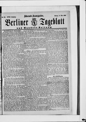 Berliner Tageblatt und Handels-Zeitung vom 13.05.1889