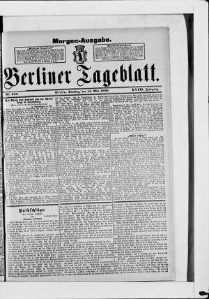 Berliner Tageblatt und Handels-Zeitung vom 14.05.1889