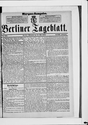 Berliner Tageblatt und Handels-Zeitung vom 15.05.1889
