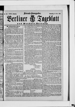 Berliner Tageblatt und Handels-Zeitung vom 16.05.1889