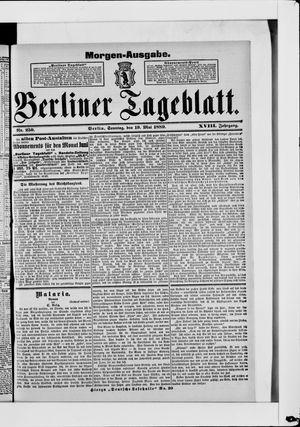 Berliner Tageblatt und Handels-Zeitung vom 19.05.1889