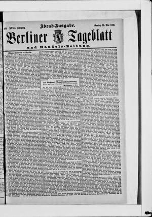 Berliner Tageblatt und Handels-Zeitung vom 20.05.1889