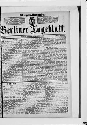 Berliner Tageblatt und Handels-Zeitung vom 21.05.1889