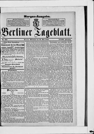 Berliner Tageblatt und Handels-Zeitung vom 22.05.1889