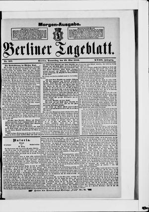 Berliner Tageblatt und Handels-Zeitung vom 23.05.1889