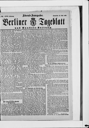 Berliner Tageblatt und Handels-Zeitung vom 25.05.1889