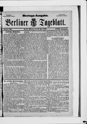 Berliner Tageblatt und Handels-Zeitung vom 27.05.1889
