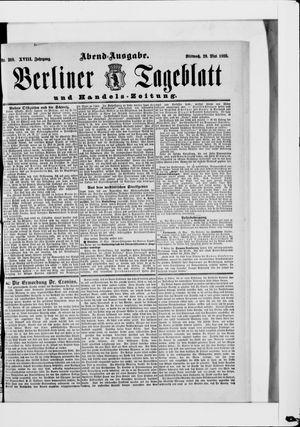 Berliner Tageblatt und Handels-Zeitung vom 29.05.1889