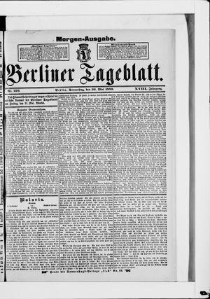Berliner Tageblatt und Handels-Zeitung vom 30.05.1889