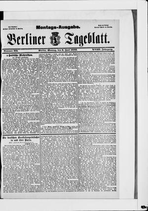 Berliner Tageblatt und Handels-Zeitung vom 03.06.1889