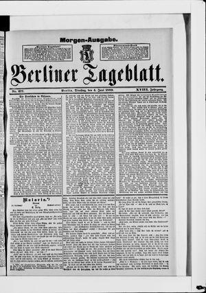 Berliner Tageblatt und Handels-Zeitung vom 04.06.1889