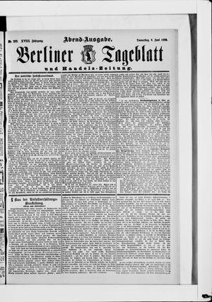 Berliner Tageblatt und Handels-Zeitung vom 06.06.1889