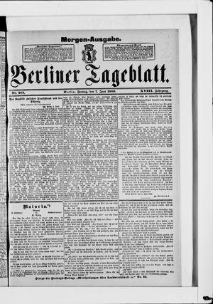 Berliner Tageblatt und Handels-Zeitung vom 07.06.1889
