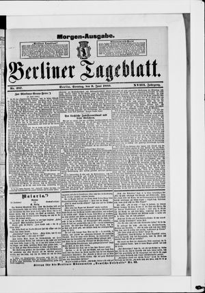 Berliner Tageblatt und Handels-Zeitung on Jun 9, 1889