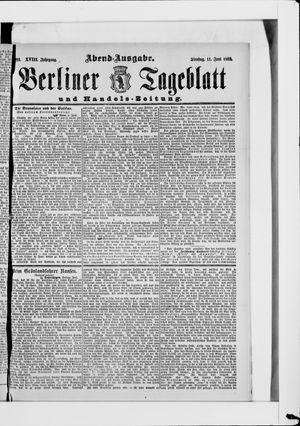 Berliner Tageblatt und Handels-Zeitung vom 11.06.1889
