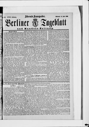 Berliner Tageblatt und Handels-Zeitung vom 12.06.1889