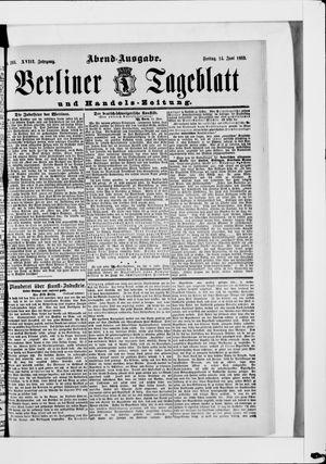 Berliner Tageblatt und Handels-Zeitung vom 14.06.1889
