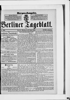 Berliner Tageblatt und Handels-Zeitung vom 16.06.1889