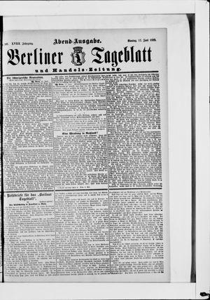 Berliner Tageblatt und Handels-Zeitung vom 17.06.1889
