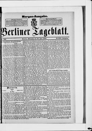 Berliner Tageblatt und Handels-Zeitung vom 19.06.1889