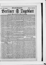 Berliner Tageblatt und Handels-Zeitung (19.06.1889)