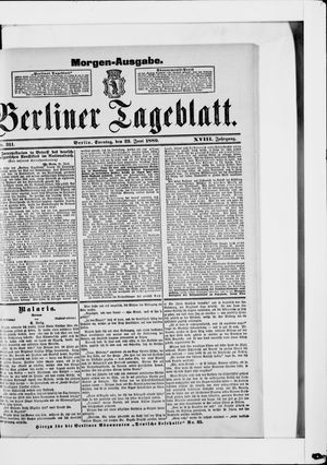 Berliner Tageblatt und Handels-Zeitung vom 23.06.1889