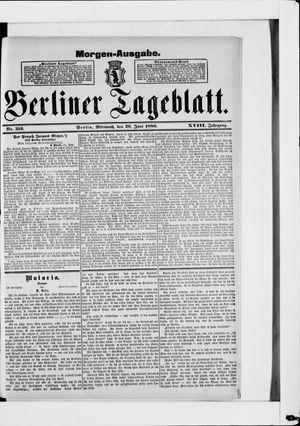 Berliner Tageblatt und Handels-Zeitung vom 26.06.1889