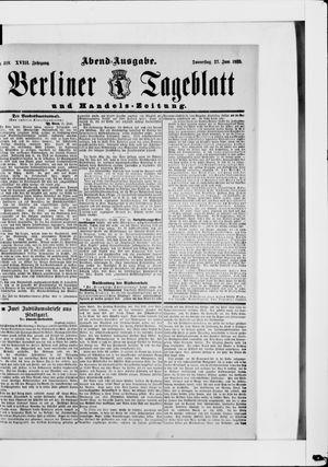 Berliner Tageblatt und Handels-Zeitung vom 27.06.1889