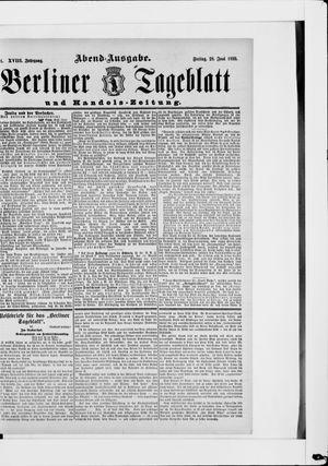 Berliner Tageblatt und Handels-Zeitung vom 28.06.1889
