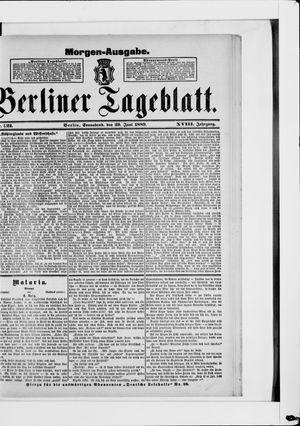 Berliner Tageblatt und Handels-Zeitung vom 29.06.1889