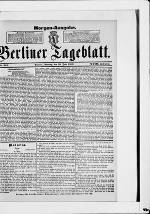 Berliner Tageblatt und Handels-Zeitung on Jun 30, 1889