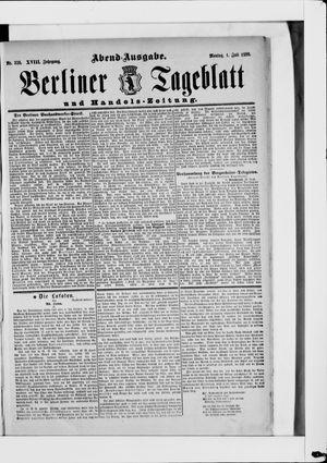 Berliner Tageblatt und Handels-Zeitung vom 01.07.1889