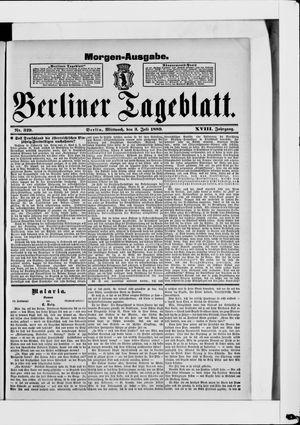 Berliner Tageblatt und Handels-Zeitung vom 03.07.1889
